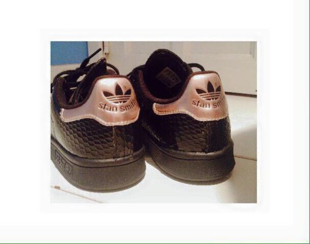 shoes black rose gold stan smith adidas 5b56d1065