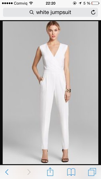 jumpsuit white long classy