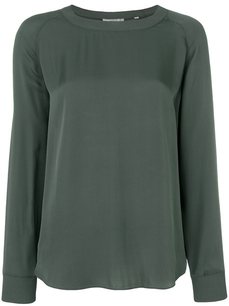 Vince blouse women silk grey top