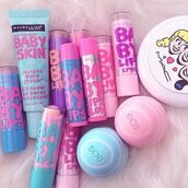 make-up,baby lips,cute,face care