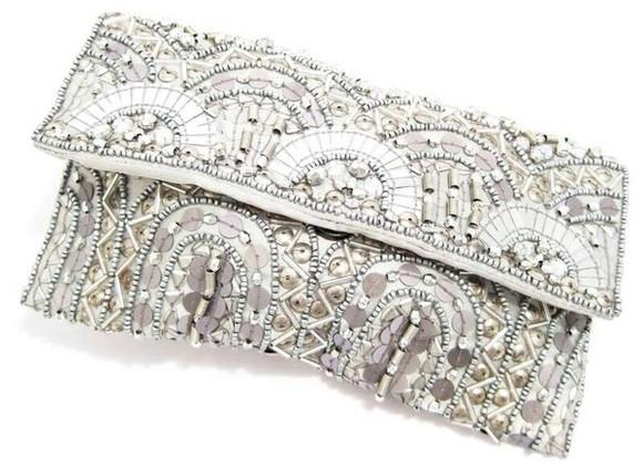 beads prom formal beaded silver bag silver clutch clutch sequins clutch handbag