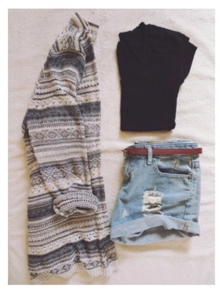 style top pattern cardigan tumblr outfit sweater weather