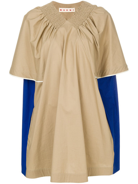 MARNI blouse pleated women nude cotton top