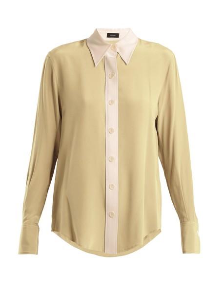 Joseph shirt silk cream top