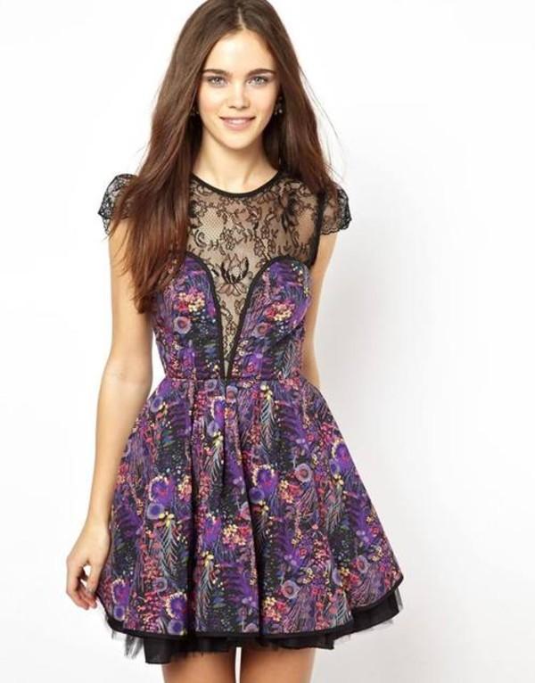 dress dress clothes purple lace black black lace lace dress where did you get that high-low dresses purple dress