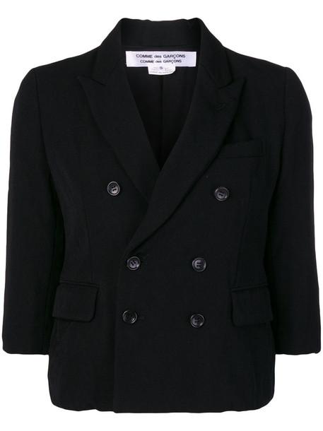 Comme des Garçons Comme des Garçons jacket double breasted women black wool
