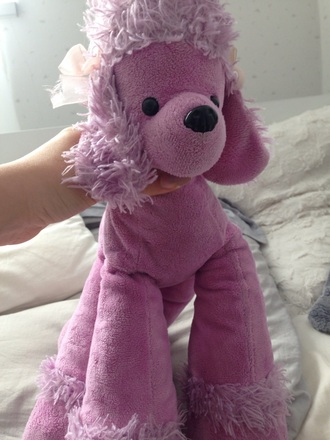home accessory dog slush pink stuffed animal