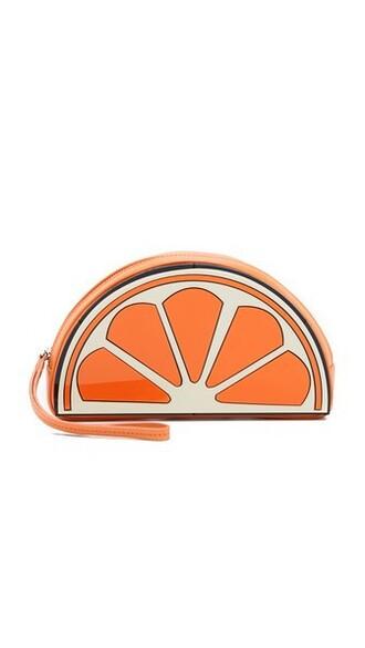 clutch orange bag