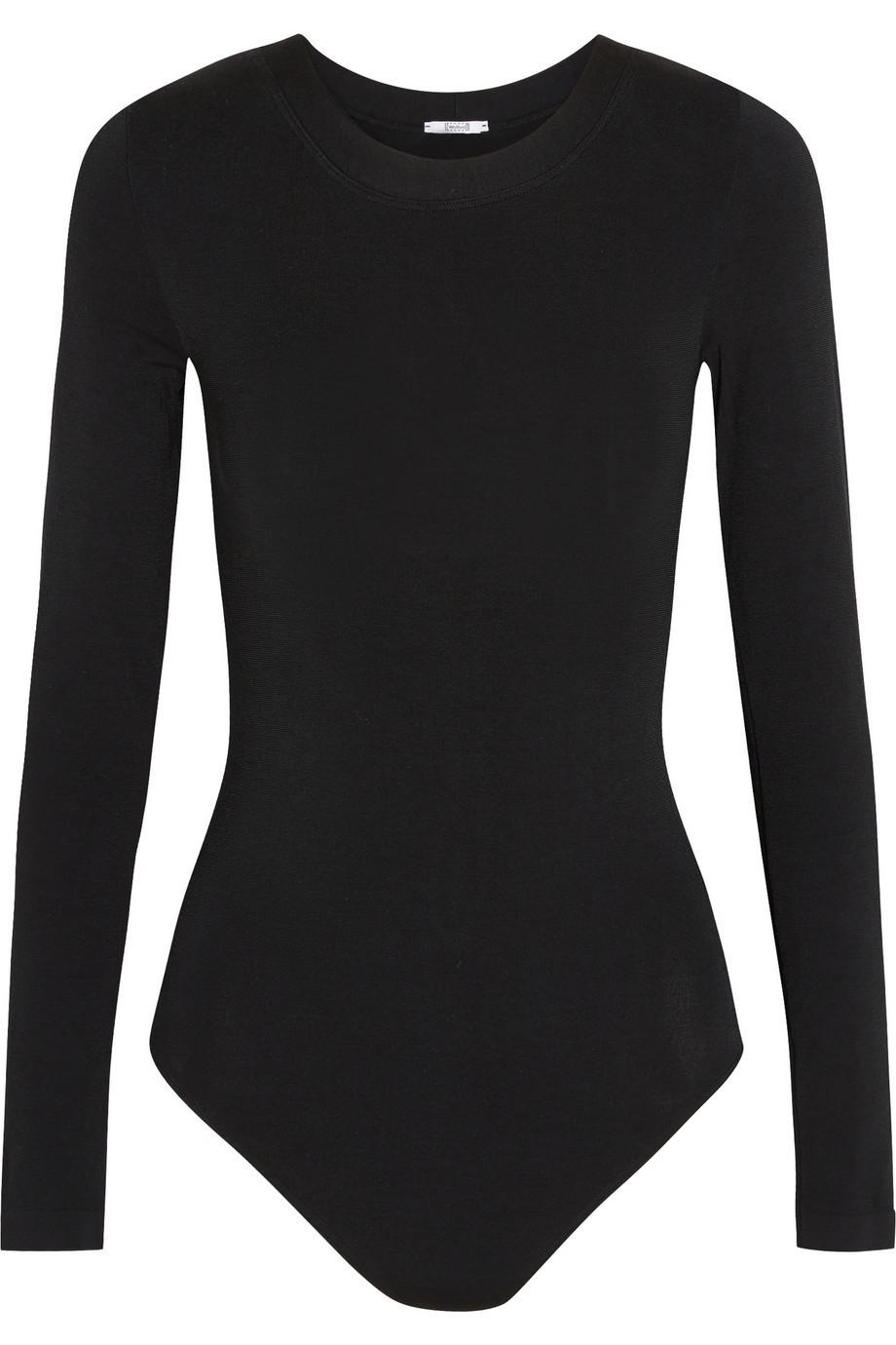 Wolford Berlin Stretch-Jersey Bodysuit in black