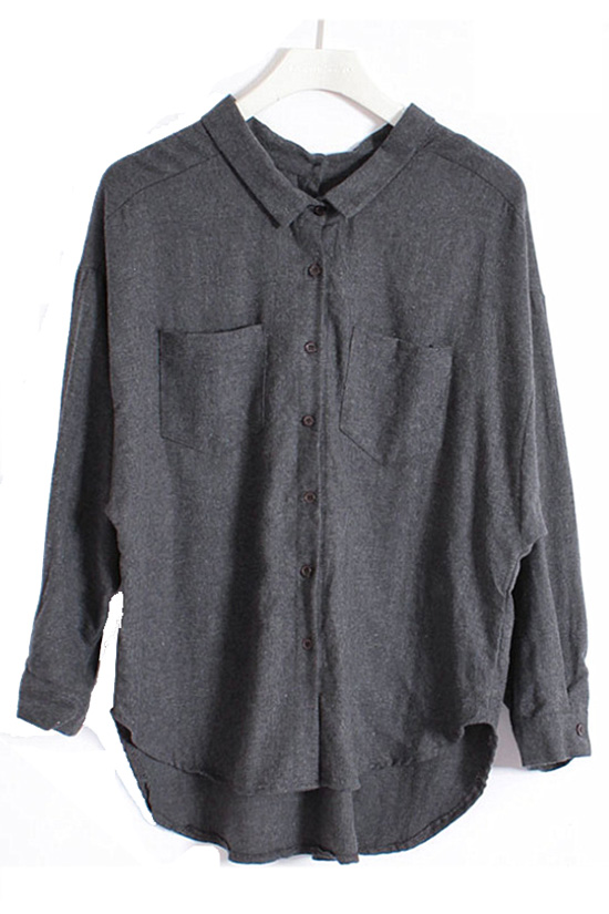 Loose Style Backwards Wearable Shirt [DLN0205] - PersunMall.com