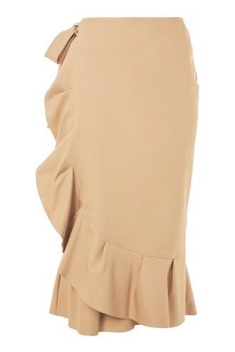 skirt midi skirt midi cotton camel