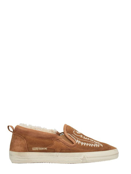Golden goose sneakers leather shoes