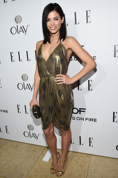 jenna dewan sandals metallic gold