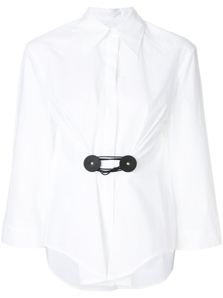 Mm6 Maison Margiela shirt women white cotton top