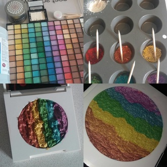 make-up crazy rainbow highlighter love new colorful