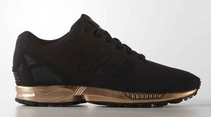 2f094ecd8cc ... closeout adidas zx flux womens gold and black 9a3ce c8b55 ...