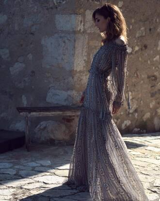 dress tumblr maxi dress long dress grey dress long sleeves long sleeve dress