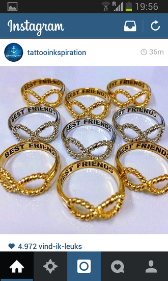 jewels bestfriends infinity ring gold silver ring
