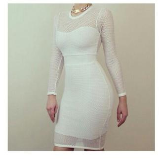 dress longsleeve mesh
