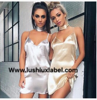 dress satin silver silk gold slip dress satin dress