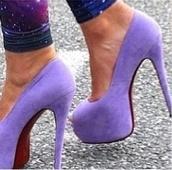 shoes,lavender,high heels