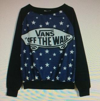 shirt vans pullover stars navy black