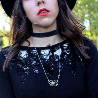 jewels shop dixi choker necklace velvet grunge goth