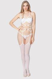 underwear,bridal lingerie,bridal underwear,bridal harness,lingerie harness,white lingerie,body harness,white body harness