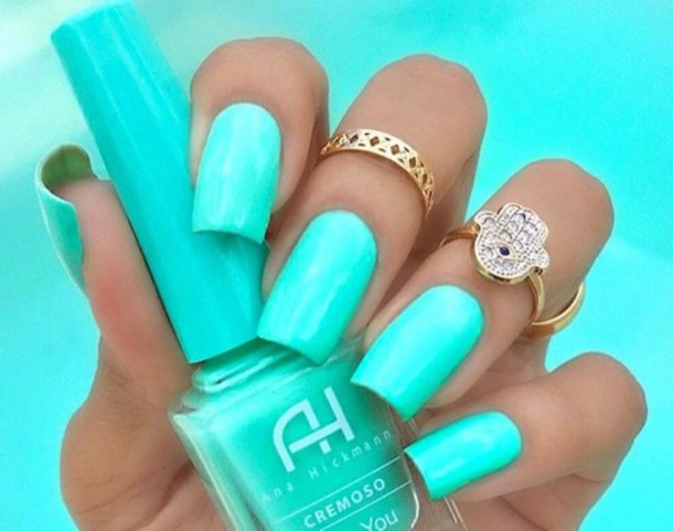 nail polish, mint, green, colerfull, beautiful, nail accessories ...