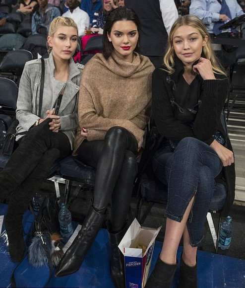 sweater leggings fall outfits kendall jenner gigi hadid hailey baldwin