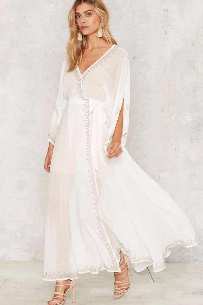 Jetset Diaries Las Perlas Kimono Dress - White