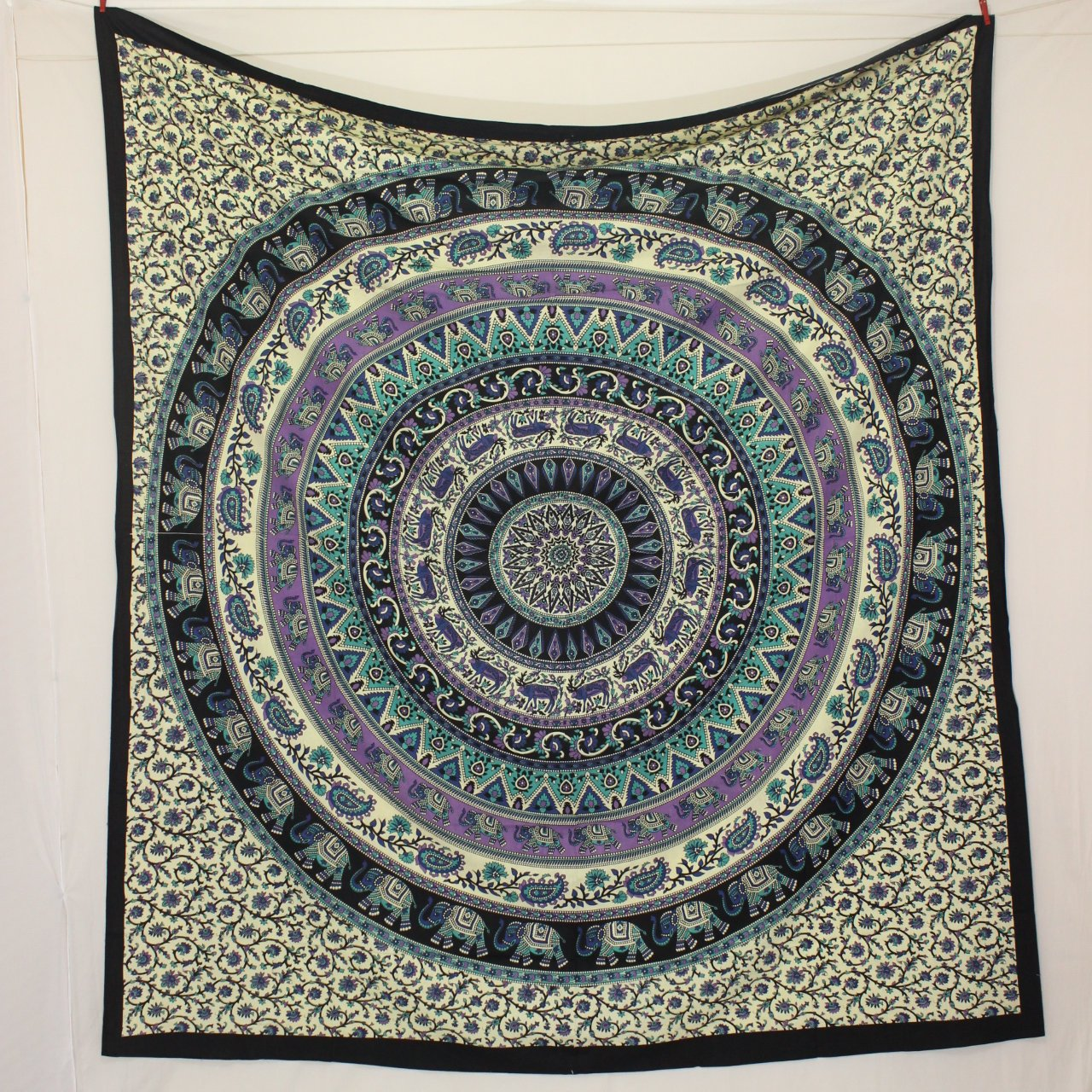 Circle Tapestry Wall Hanging Elephant Tapestry Wall Tapestry Mandala Tapestry Indian Tapestry Bohemian Tapestry Hippie boho tapestry decor