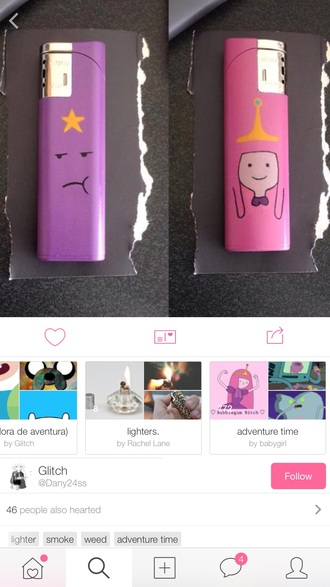 home accessory adventure time princess bubblegum lighter