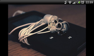 earphones silver skull cool