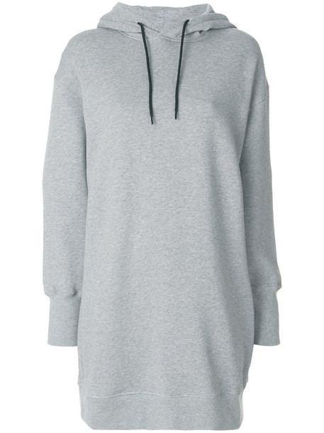 MSGM hoodie long women cotton grey sweater