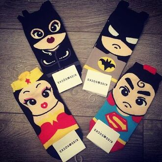 socks superman batman wonder woman cute funny superheroes