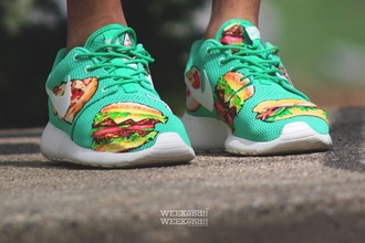 shoes nike food hamburger yum socks