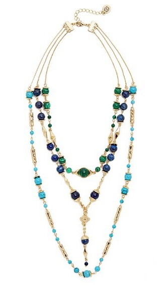 layered statement necklace statement necklace gold turquoise jewels