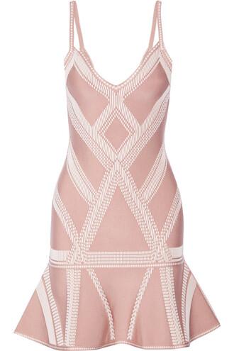 dress mini dress mini knit jacquard blush