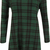 alex tartan check long sleeve swing dress