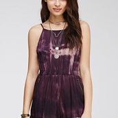jumpsuit,tie dye,purple,purple dress,tie dye romper,romper,shorts,style,boho,boho chic,shoes
