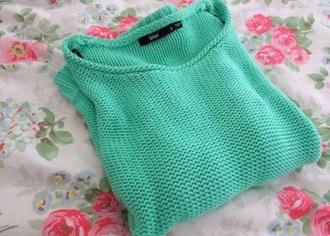 sweater teal