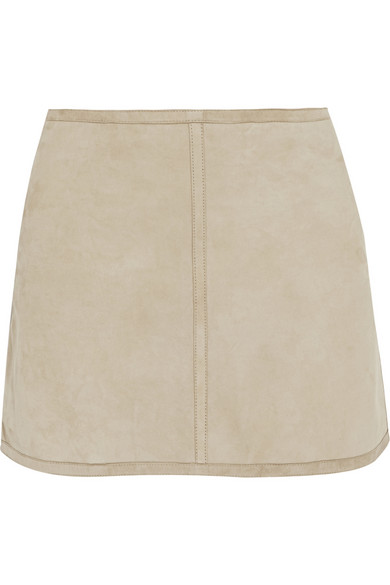 KAUFMANFRANCO | Suede and linen mini skirt | NET-A-PORTER.COM