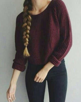 sweater red sweater striped