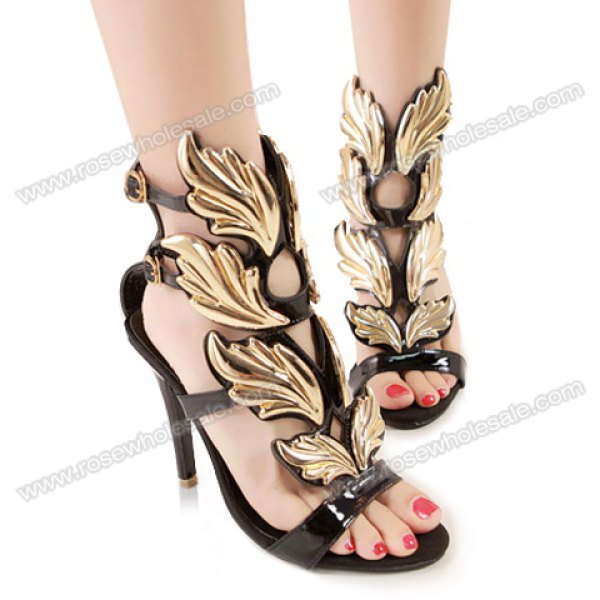 Wholesale Fashion Women's Sandals With Buckle and High Heel Design (BLACK,38), Sandals - Rosewholesale.com