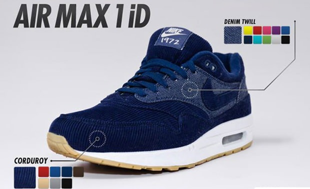 Nike Air Max 1 iD Corduroy Option  | NiceKicks.com