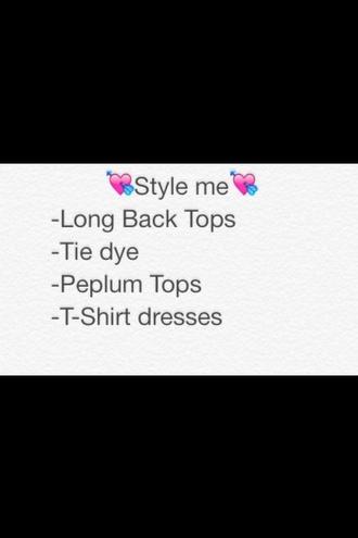 dress peplum top long back long back top high low t-shirt dress t-shirt tie dye tie dye shirt peplum tie dye dress