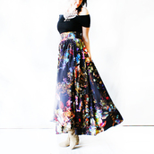 skirt,maxi dress,maxi skirt,bohemian,hippie chic,gypsy