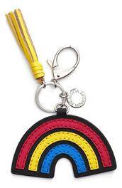 bag,keychain,bag charm,charm,tassel,rainbow,bag accessoires