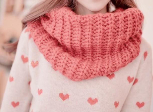 sweater heart kfashion korean fashion asian fashion heart sweater